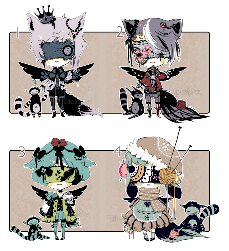 [CLOSED] Adopt Set price 54 -  Blind Lace by Piffi-adoptables