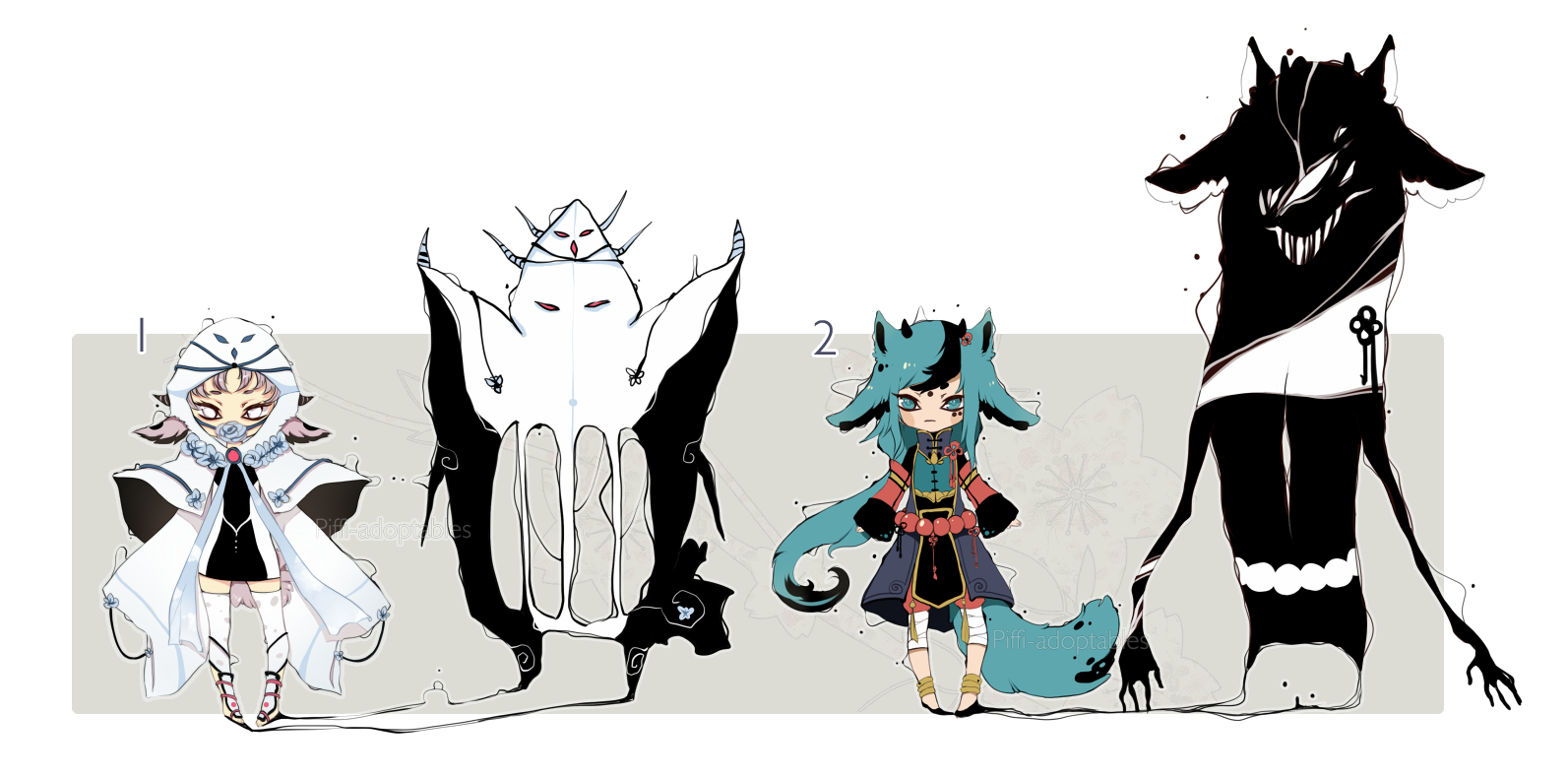 [CLOSED] ADOPT AUCTION 60 - Shadowmonster by Piffi-adoptables