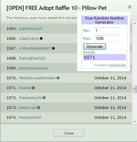 Winner Raffle 10 by Piffi-adoptables