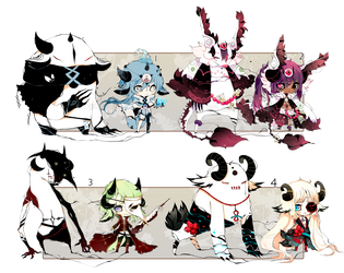 [CLOSED] ADOPT AUCTION 146 - Shadowmonsters