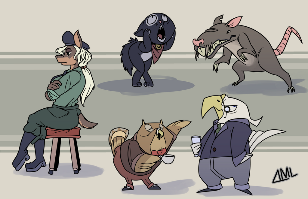 Bipedal Animals by OniPolice