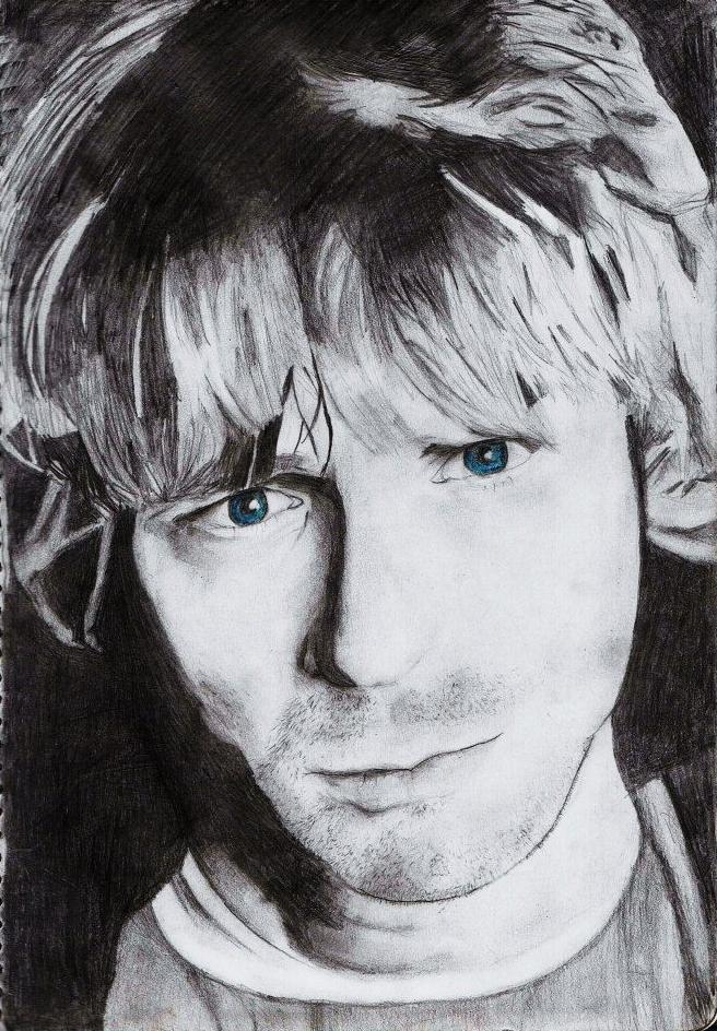 Kurt Cobain by uber-vexx