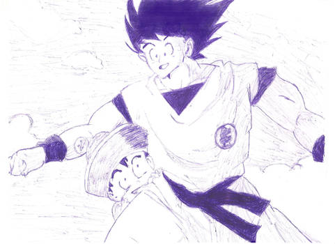 Goku And Gohan In The Sky