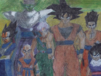 Goku and friends by MrKurtIrving