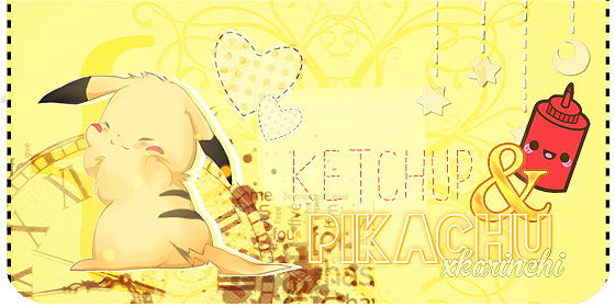 Pikachu y Ketchup Love by xKarinchi