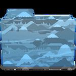 Mountain Blue Folder