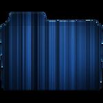 Stripped Blue Folder