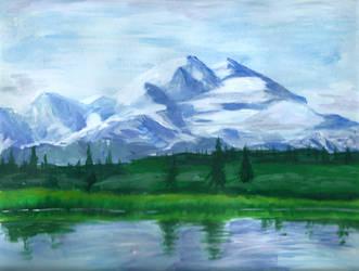 Mountain landscape by delicious-tea