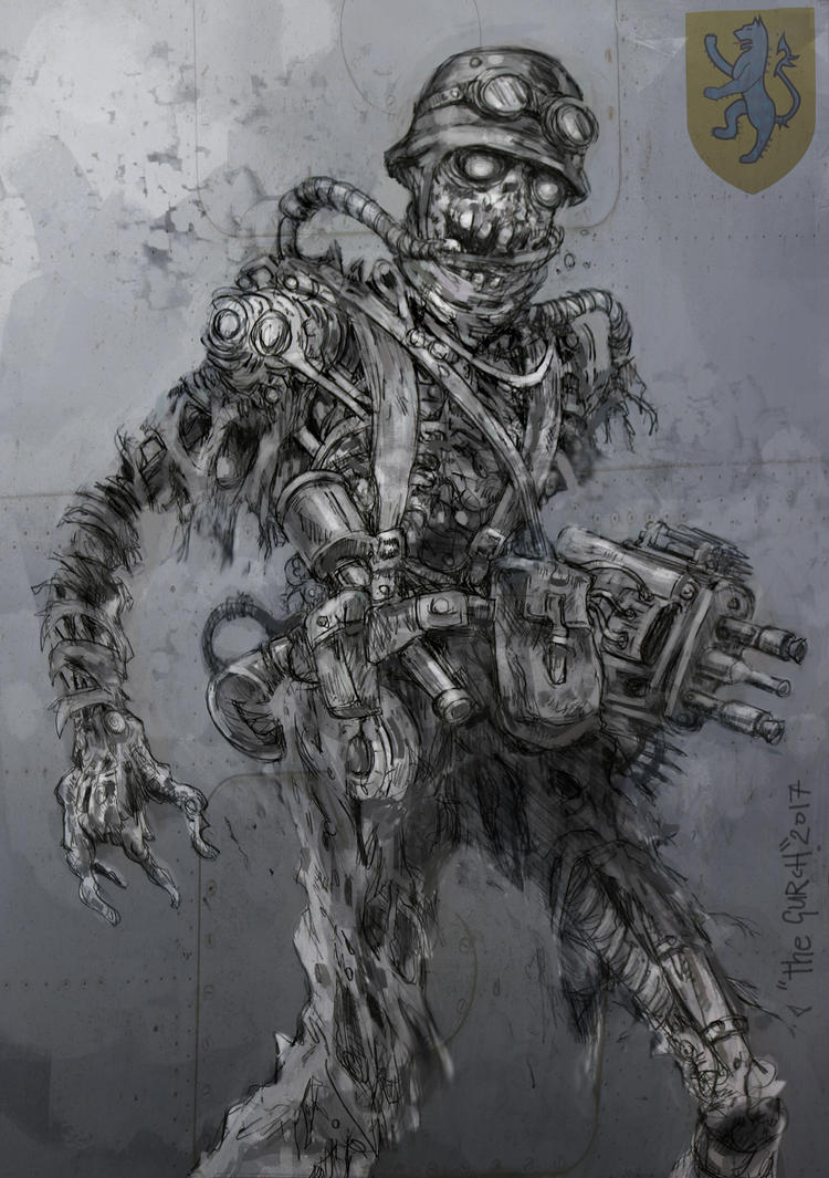 Necro Trooper concept art by VonKreep1313