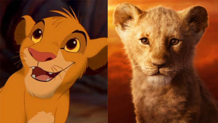 Young Simba (1994 vs 2019) by MrAcrizzy