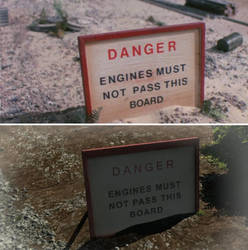 Danger Engines Must Not Pass this Board Comparison