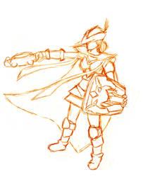 Runescape Girl Sketch by XakariSL
