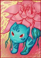 Ivysaur used petal dance - Pokemon by AuraGoddess