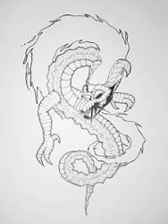 Inktober #14 - Fierce - Legend of Zelda by AuraGoddess