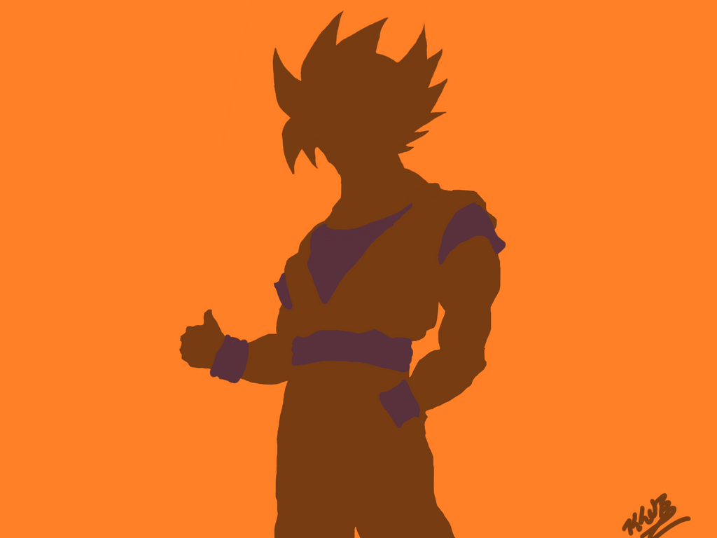 Wonderful Wallpaper Naruto Silhouette - goku_silhouette_by_kljb13-d6pmxzt  Picture.png