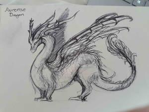 Aurorae Dragon Sketch