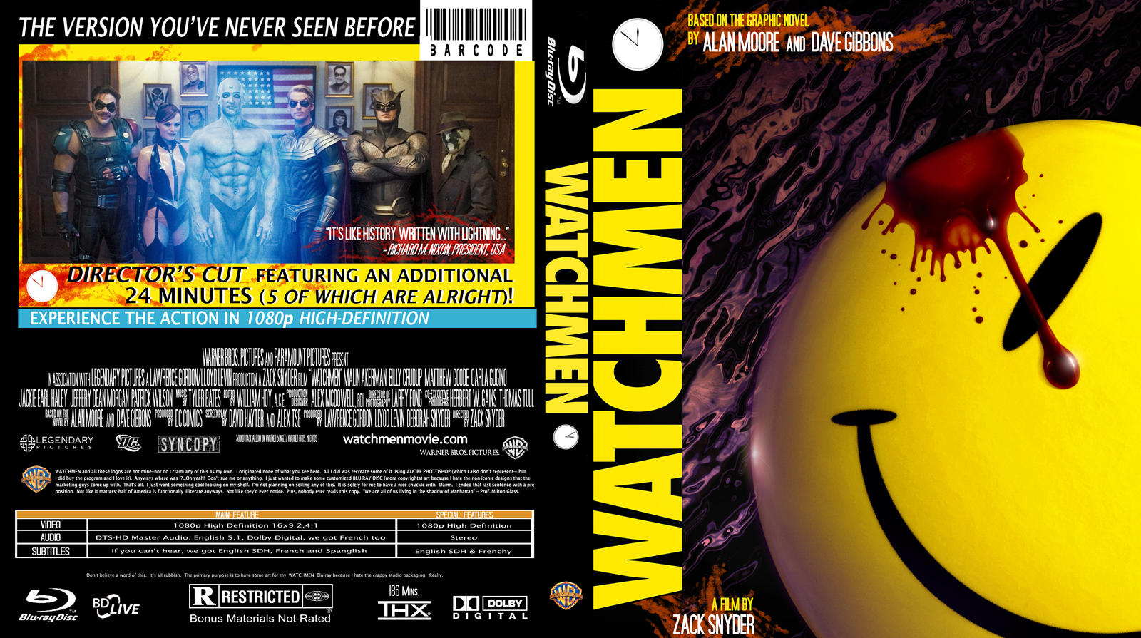Watchmen Blu-Ray Insert Art by Space-Ace-Sco on DeviantArt