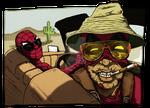 Spiderman y DeadPool in las Vegas by Alecobain26
