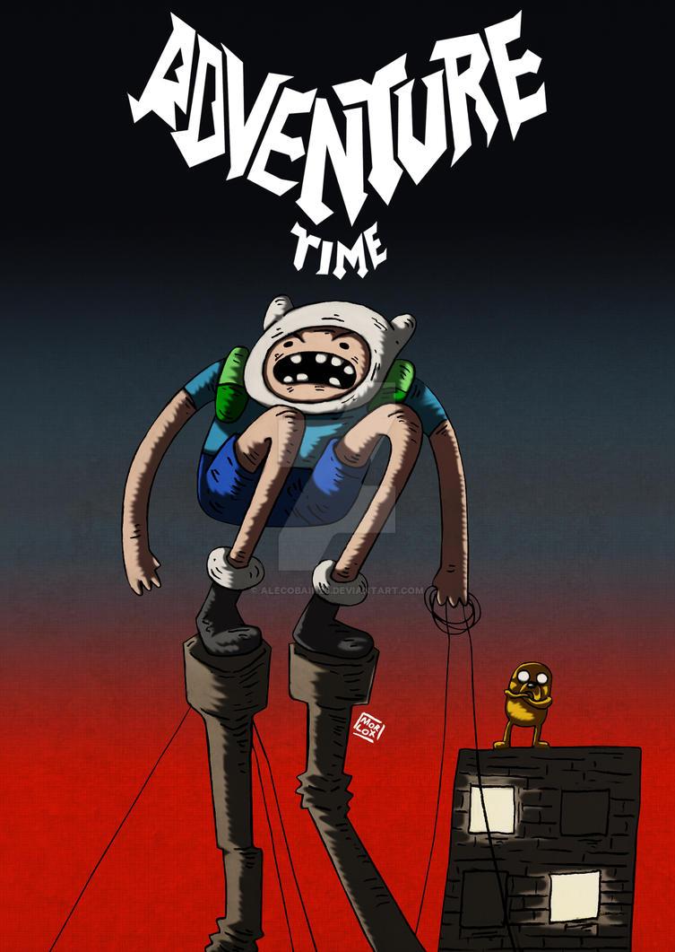 Adventure Time - Batman year 100 by Alecobain26