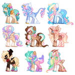 Varied Pony Adopts - CLOSED