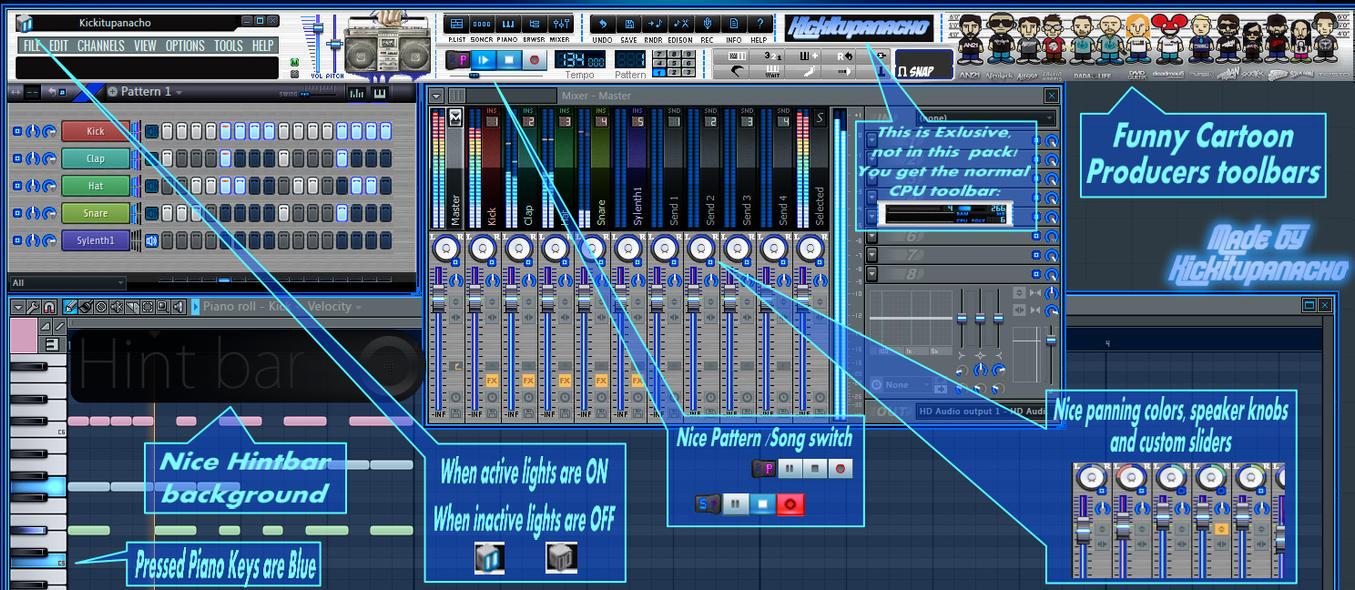 fl studio 11 skins