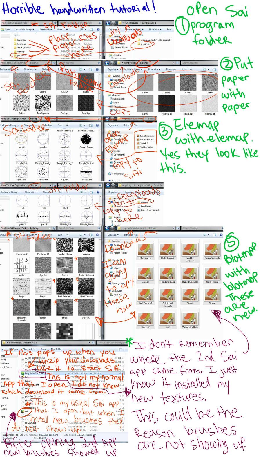 Adding new texture/brush/paper to SAI by mzclark