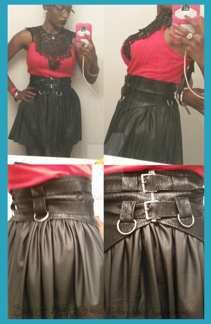 Bigbang Made Las Vegas Sewn skirt and waistcincher by mzclark