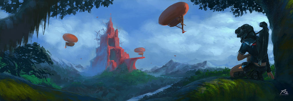 The Red Town by webang111