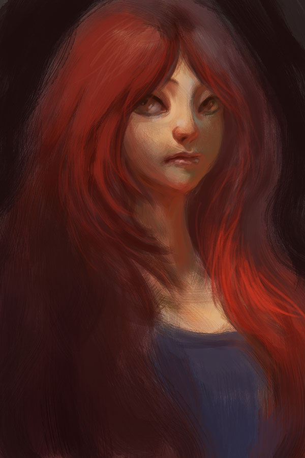 Red Hair (Download Process 40 min,PSD,Brush) by webang111
