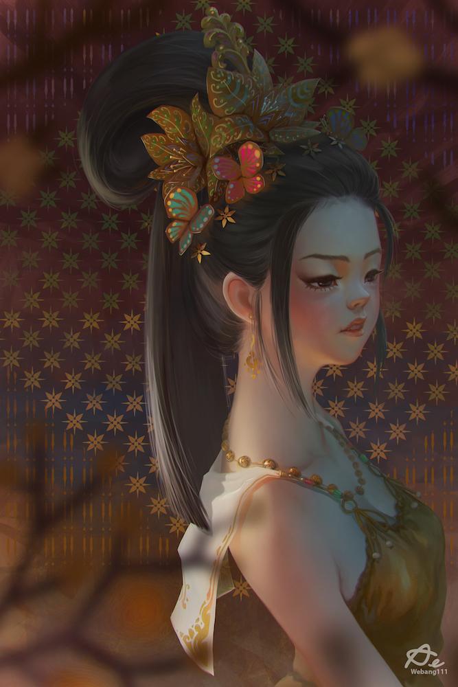Golden Flowers by webang111