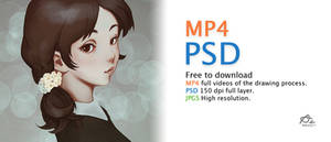 Digital Painting process VDO and PSD Download