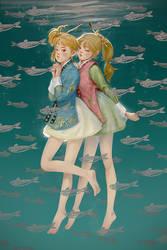 Twin Gannets by webang111