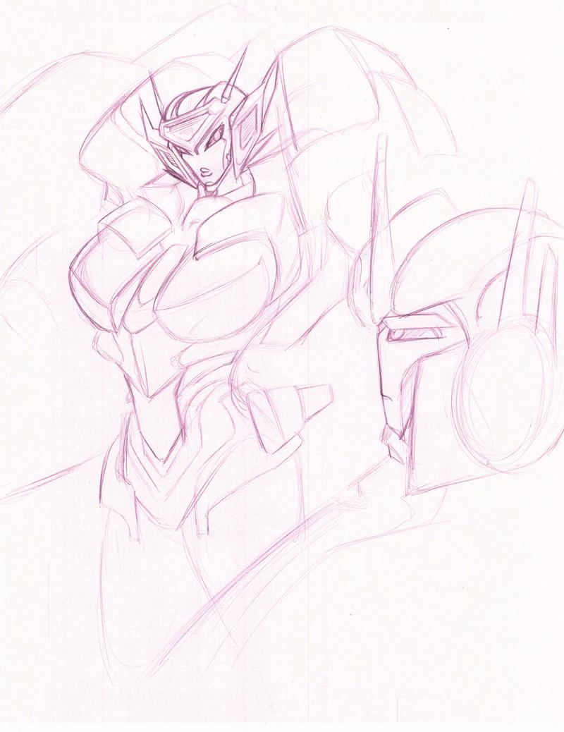 Elita-One vs. Optimus Prime concept by Neme303