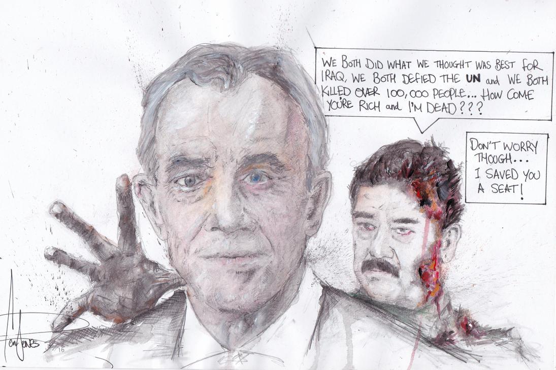 Tony and Saddam by Benjones801