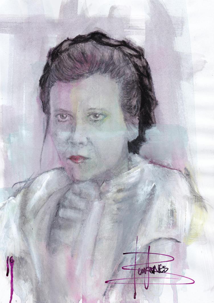 Carrie Fisher by Benjones801