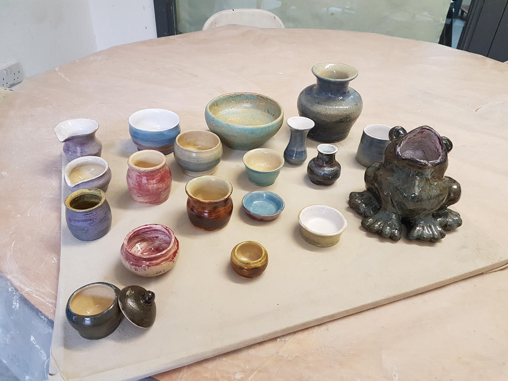 the new finished batch of clay work by Yoonett