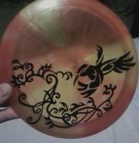 Dyed disc for disc golf by demonshuriken87 on deviantart for Disc golf tattoos
