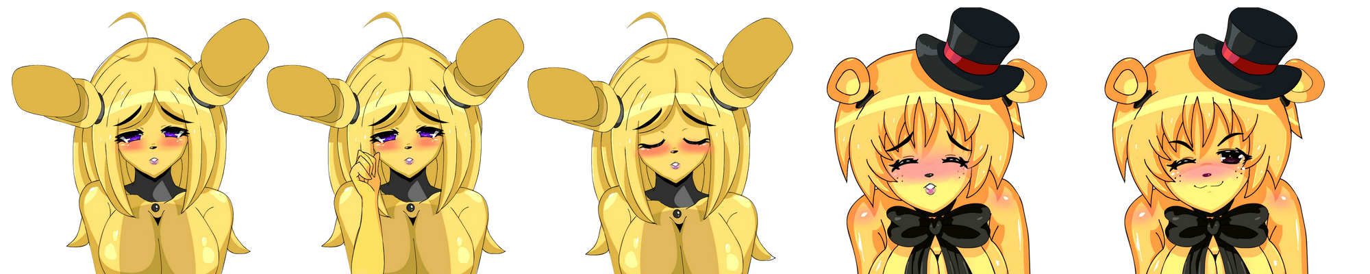 FIxed Anime Springtrap and Golden Freddy
