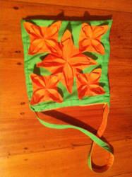 Fabric Flower Handbag