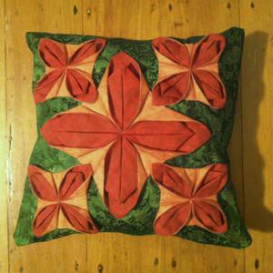 Fabric Flower Cushion