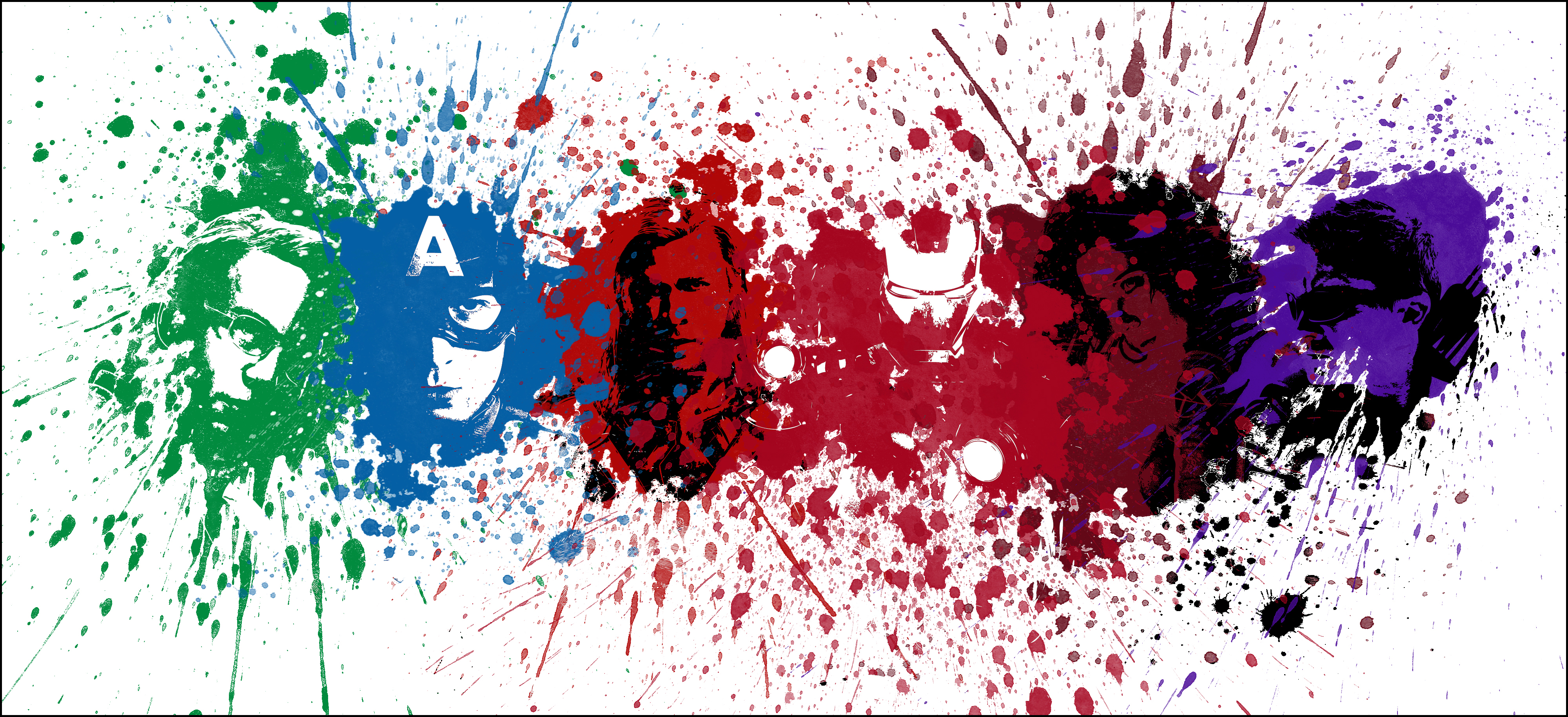 Avengers Splatter by DesignsByTopher