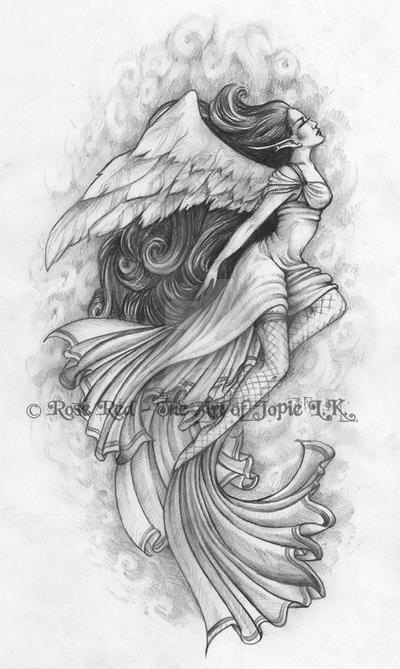 Angel tattoo design by Laiyla