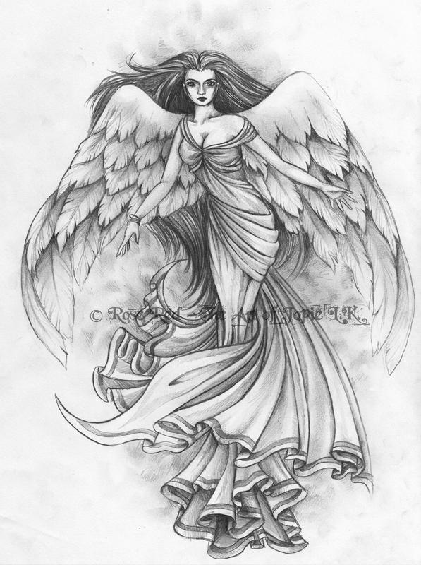 angel tattoo design 2 by laiyla on deviantart. Black Bedroom Furniture Sets. Home Design Ideas