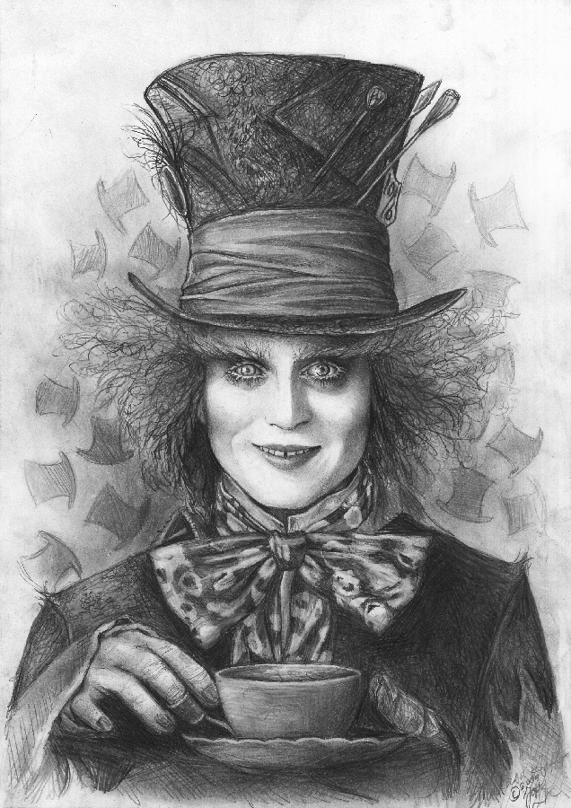 Johnny Depp Mad Hatter Drawing Mad as a Hatter by Lai...