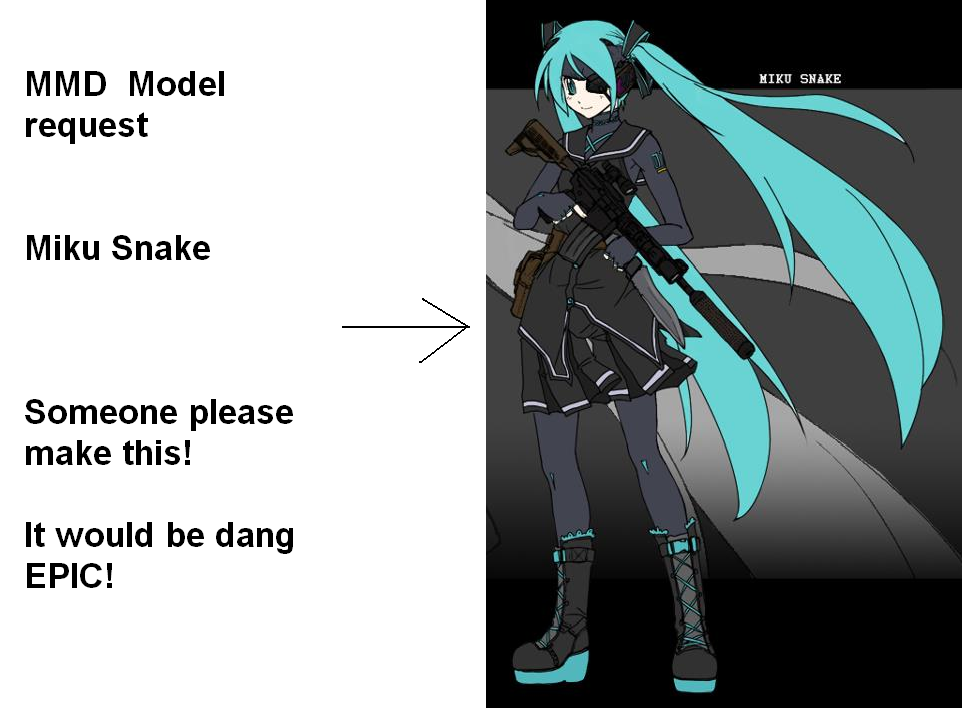 Miku Snake model request by MoonwolfYouthOtaku