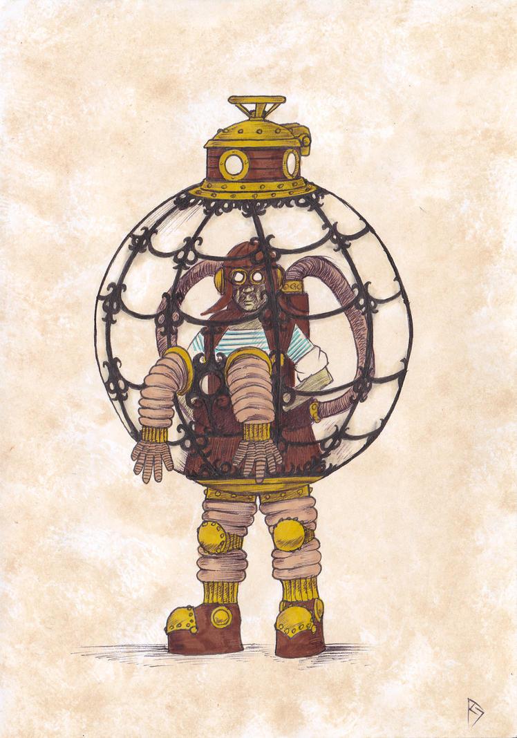 Steampunk Bubble Boy by AndrewJohnCraven on DeviantArt