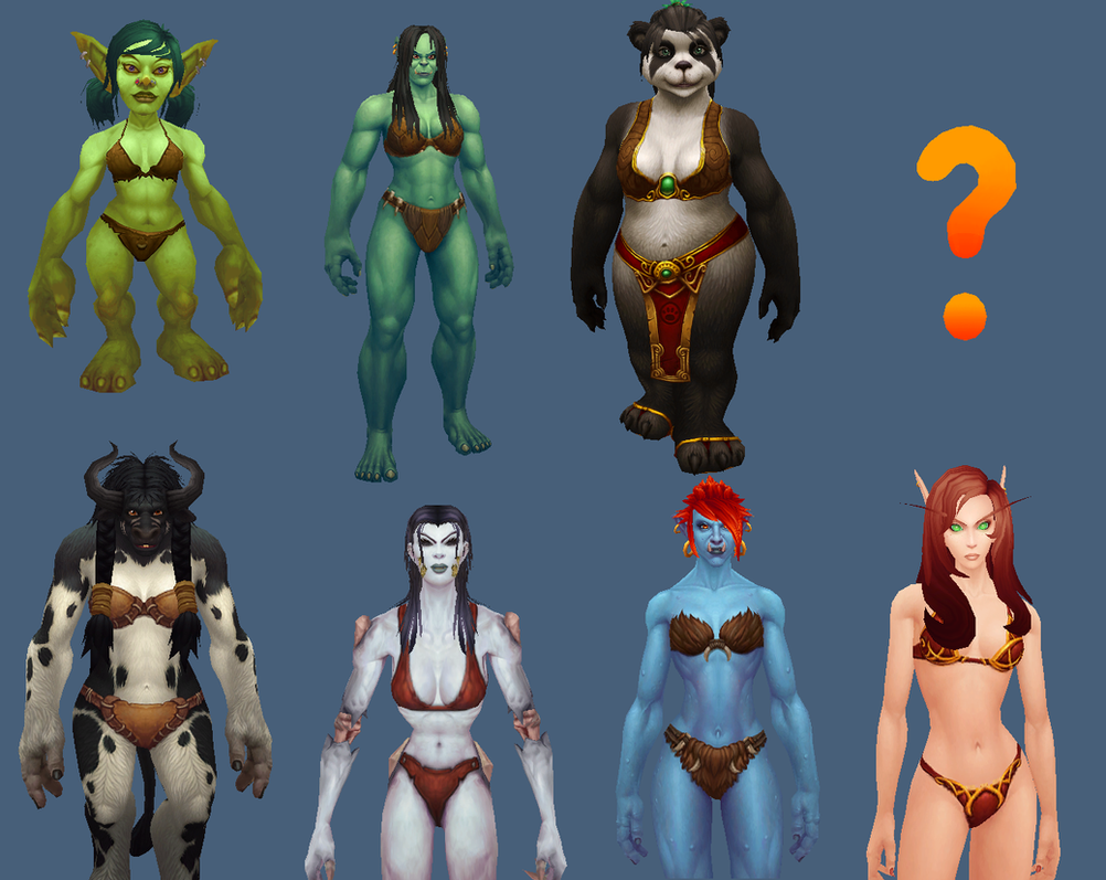 Horde Female Characters by ValAndy7