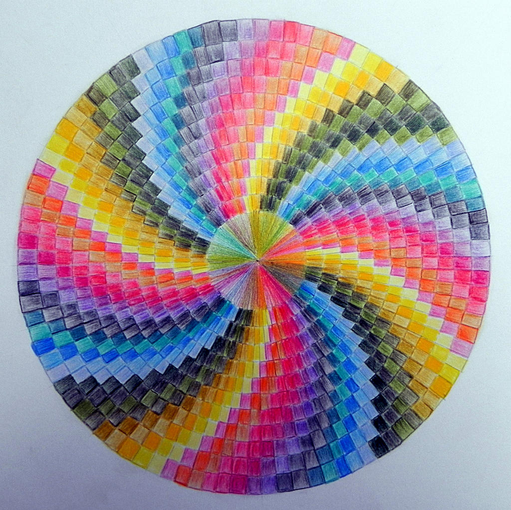 Colour pencil drawing 14 the lollipop by lou in canada on for Easy colour sketch pen drawings