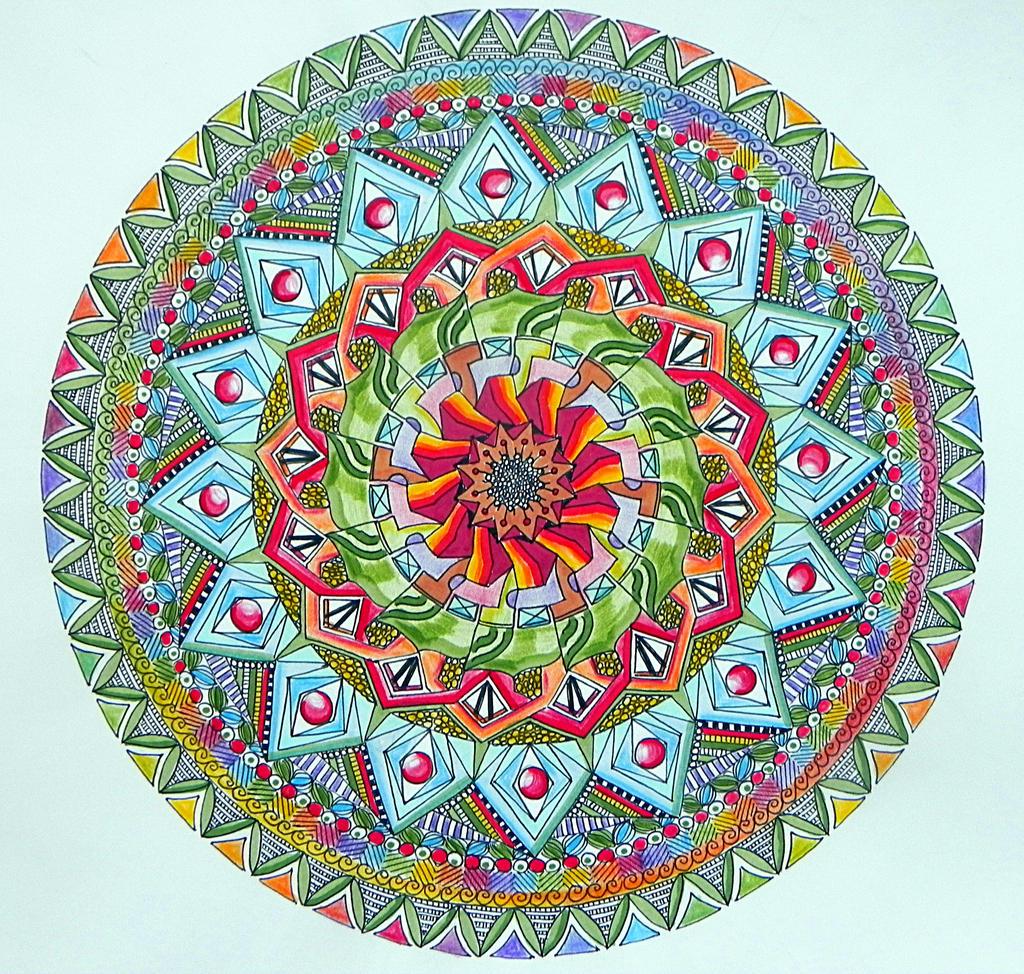 Like a Flower Mandala coloured by Lou in Canada on DeviantArt