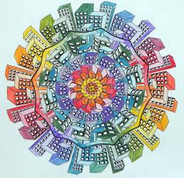 City Planet Coloured